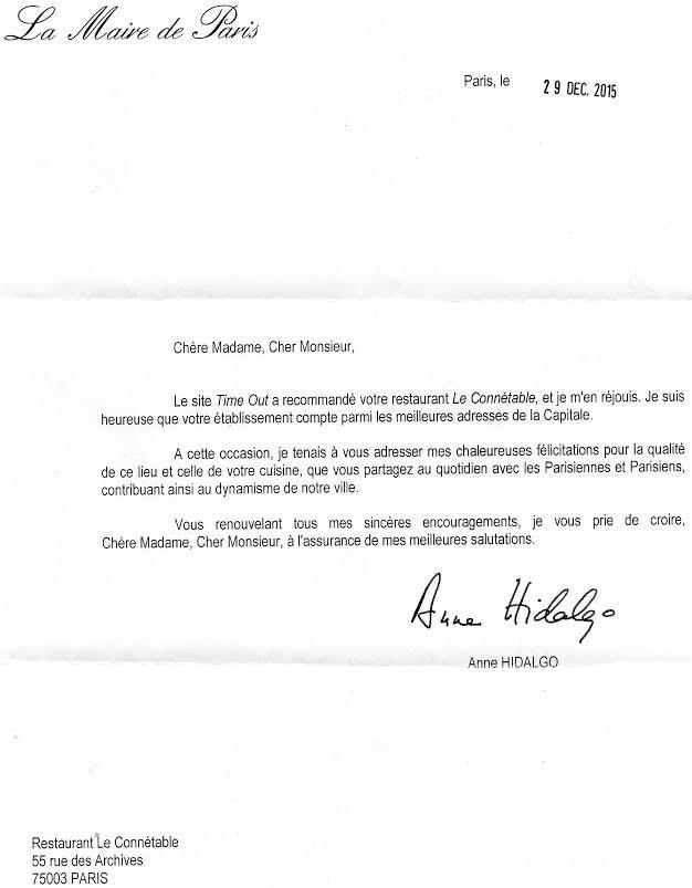 Mme Anne idalgo Maire de Paris